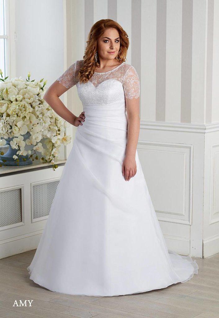 dce5d8402bf7 Svadobné šaty pre moletky až do veľkosti 60