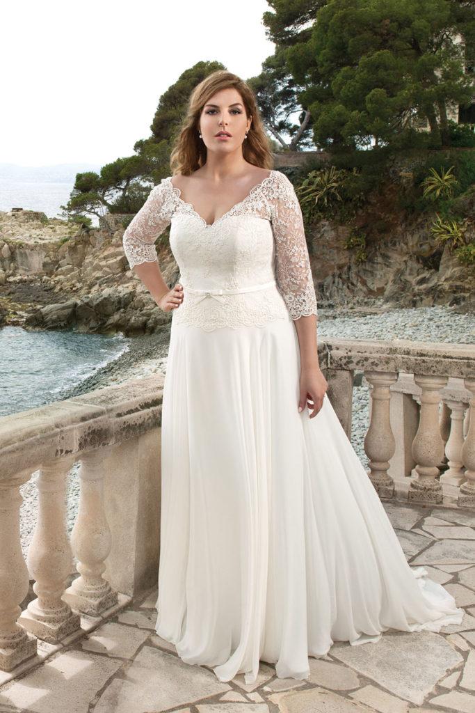 9df940953d8b Svadobné šaty pre moletky až do veľkosti 60